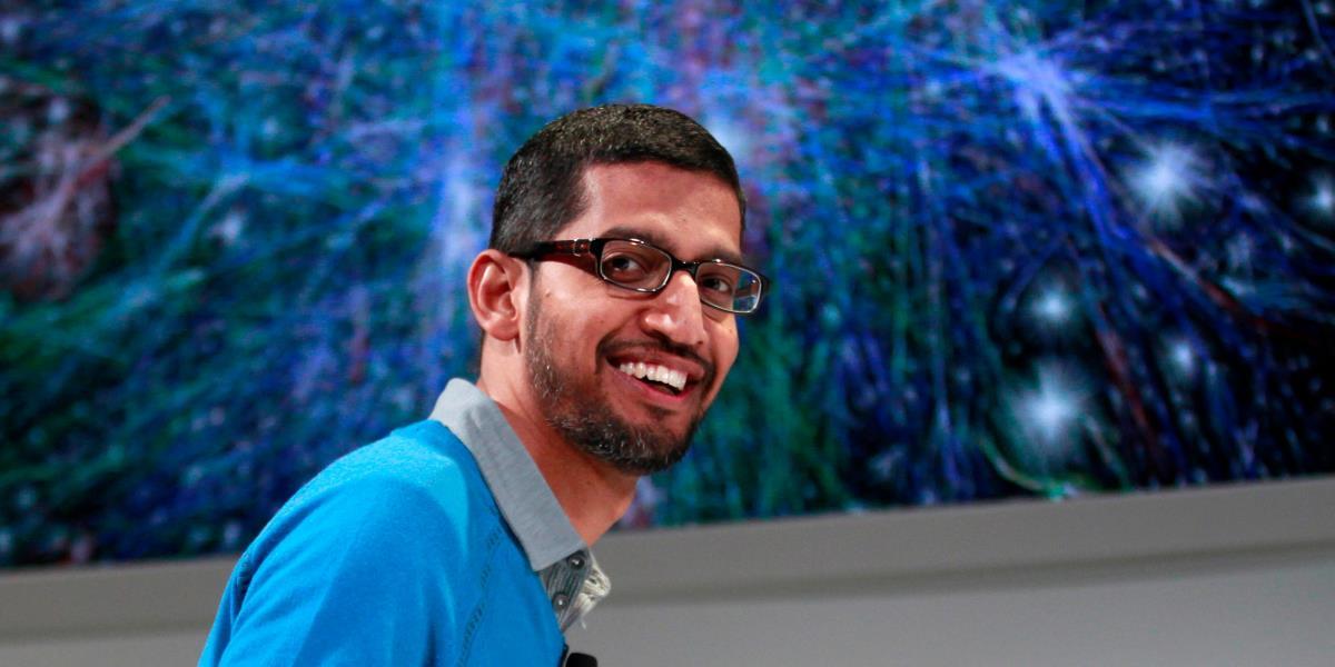 ساندر بيتشاي المدير التنفيذي الحالي لشركة غوغل